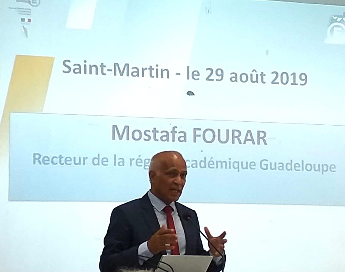 Le recteur, Mostafa FOURAR