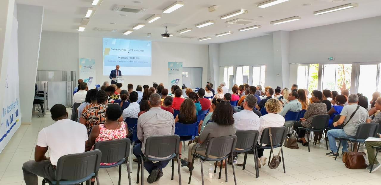 La rentrée des personnels de l'éducation nationale de Saint-Barthélemy et de Saint-Martin