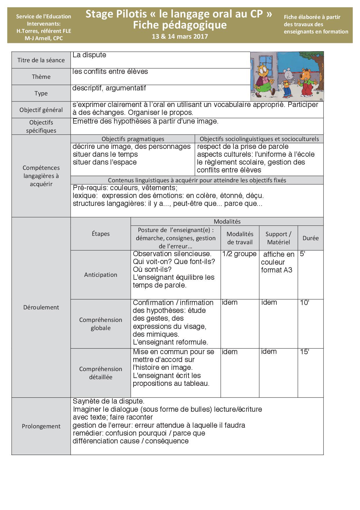 Des fiches pédagogiques pour le langage oral au CP !   Les ...