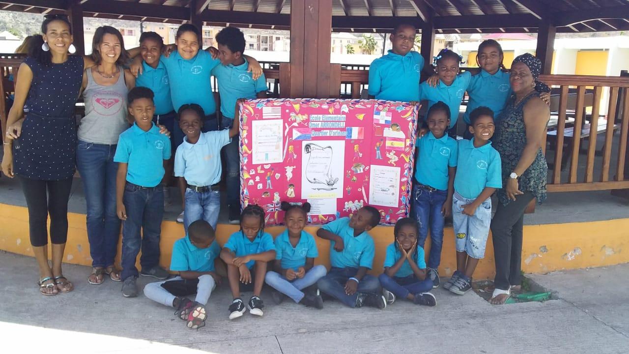 Les élèves de CP de Omer Arrondell et leurs enseigantes