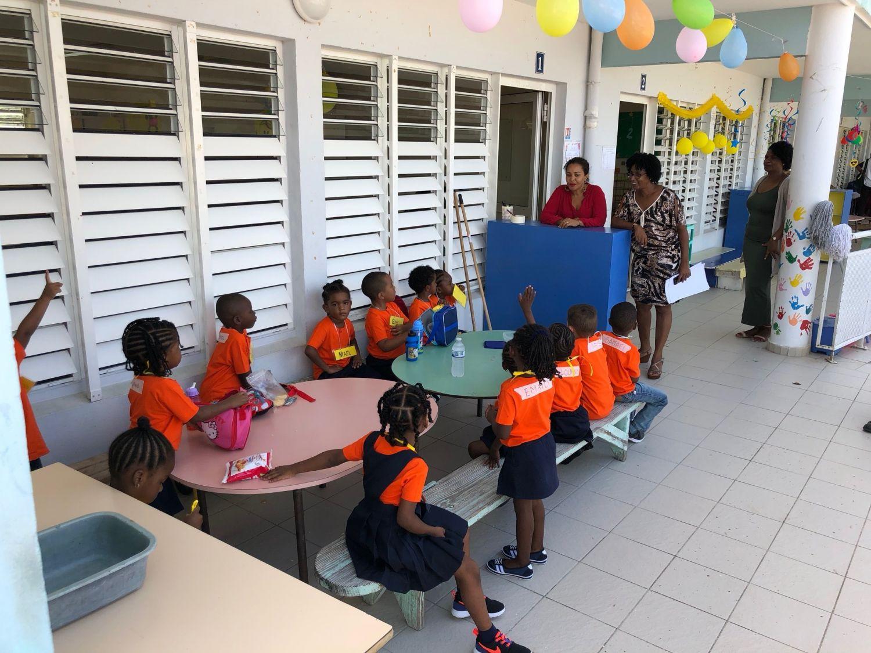 Rentrée à l'école maternelle Evelina Halley