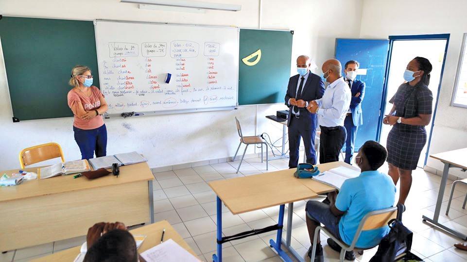 Rentrée au collège Soualiga avec le recteur de l'académie de Guadeloupe et le président de la COM de Saint-Martin