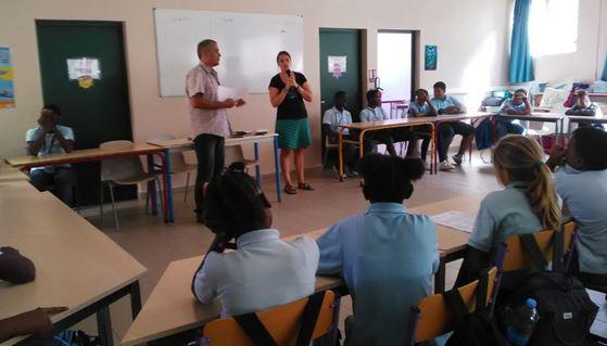 Intervention en classe et 1er conseil de la mer de l'AME de Galisbay