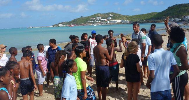 Intervention de Vincent Oliva, responsable du pôle éducation à l'environnement de la Réserve Naturelle Nationale de St-Martin