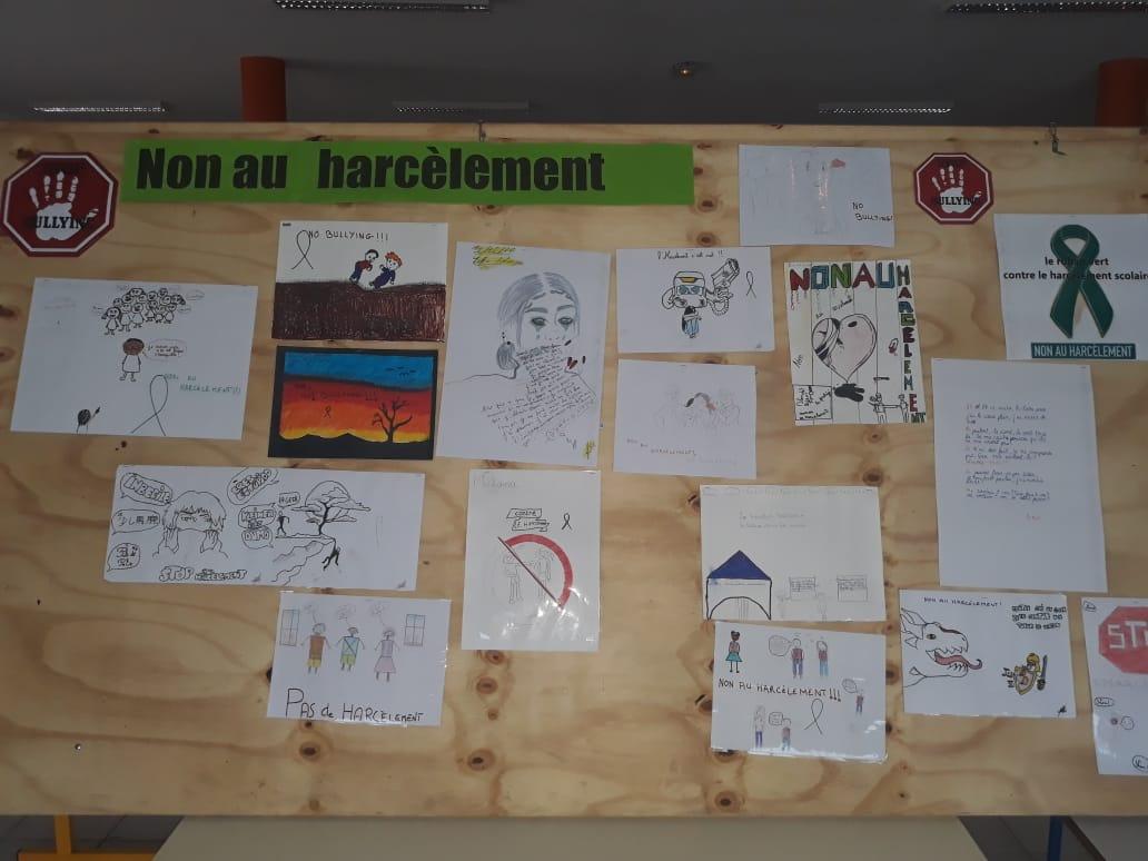 Travaux des élèves pour la lutte contre le harcèlement