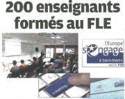 200 enseignants formés au FLE