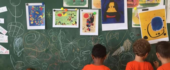 """Dans le cadre du projet plastique """"Sur les traces de Joan Miro"""""""