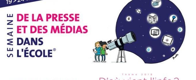 La semaine de la presse et des médias à l'école