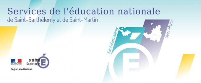 Les services de l'éducation nationale de Saint-Barthélemy et Saint-Martin