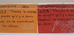 Semaine des mathématiques à l'école Clair Saint-Maximin