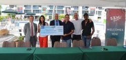 L'association SXM festival achète du matériel sportif pour les enfants de Saint-Martin