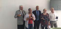 Les futurs retraités avec le recteur