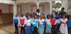 Les élèves de l'école maternelle Simeonne Trott