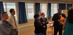 Visite de M. le Recteur au collège de Quartier d'Orléans le 20 décembre 2016